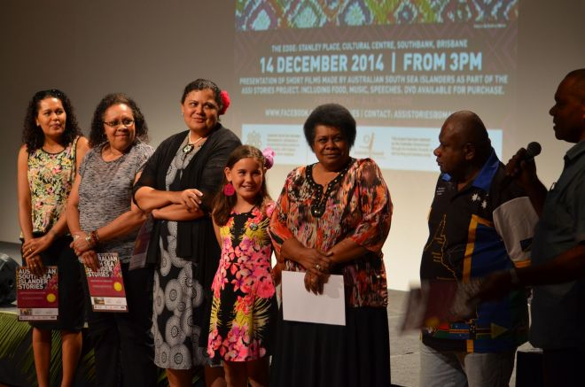ASSI Stories participants receiving certificates, December 2014.