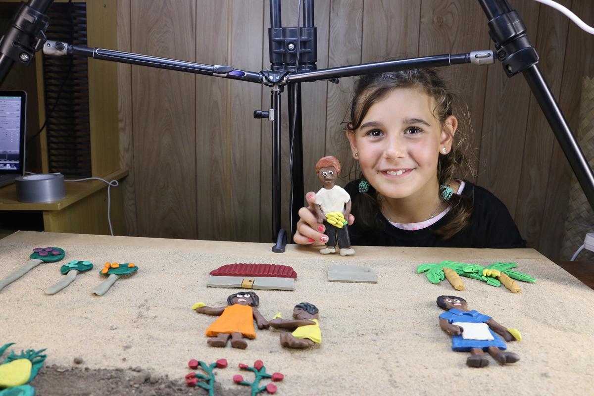 "ASSI Stories Project - Jessika Bezgovsek animating her short film: ""Aunty Valda's Story"". © ASSI Stories."