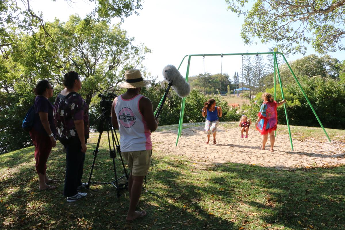 "Shooting on Stradbroke Island for Danita Merrypor's film with Georgia Corowa ""Wholeheartedly""."