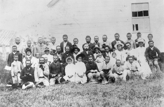 'Australian South Sea Islanders at their Sunday School in Mackay, Queensland, circa 1890', Source: State Library of Queensland.